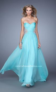 Picture of: Embellished Chiffon Prom Dress with Waist Cut Outs, Style: 21331, Main Picture