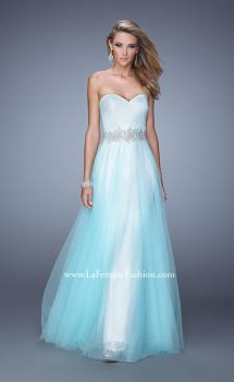 Picture of: Tulle Prom Dress with Lace Lining and Embroidered Belt, Style: 21341, Main Picture