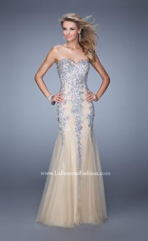 Picture of: Tulle Mermaid Prom Dress with Sequins and Beads, Style: 21358, Main Picture
