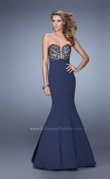 Picture of: Long Mermaid Prom Dress with Beaded Embroidery, Style: 21443, Main Picture