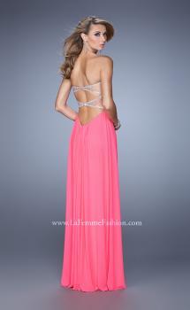 Picture of: Long Satin Prom Dress with Sparkling Trim and Stones, Style: 21461, Main Picture