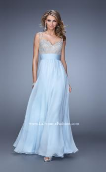 Picture of: Jeweled Encrusted Embroidered Long Chiffon Prom Dress, Style: 21505, Main Picture