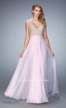 Picture of: Elegant Dress with Beads, Pearls, and Rhinestones in Pink, Style: 21516, Main Picture