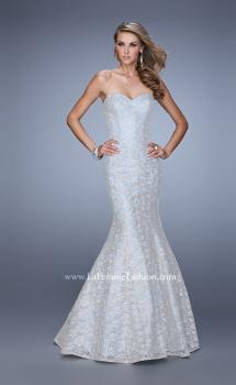 Picture of: Modern Lace Mermaid Dress with Sweetheart Neckline in Blue, Style: 21537, Main Picture