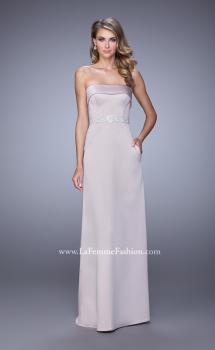 Picture of: Strapless Prom Dress with Intricate Beaded Embroidery in Champagne, Style: 21554, Main Picture