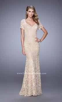 Picture of: Lace Dress with Subtle Embellishments and Short Sleeves, Style: 21657, Main Picture