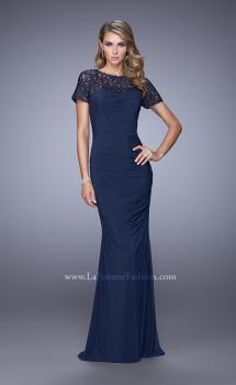 Picture of: Short Sleeve Embellished Dress with Rhinestones, Style: 21713, Main Picture