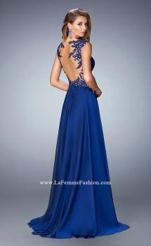 Picture of: Chiffon Prom Dress with Illusion Neckline and Rhinestones, Style: 21921, Main Picture