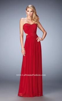 Picture of: Long Prom Dress with Cut Outs and a Slight Train in Red, Style: 21948, Main Picture