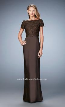 Picture of: Off the Shoulder Evening Gown with Jeweled Bodice, Style: 21962, Main Picture