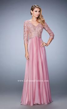 Picture of: Lace and Jeweled Embroidered Evening Gown, Style: 22031, Main Picture