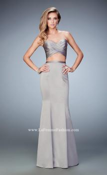 Picture of: Two Piece Long Prom Dress with Sheer Back and Stones, Style: 22207, Main Picture