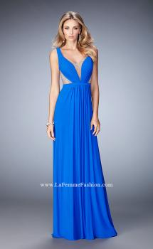 Picture of: Alluring Prom Dress with Plunging Neckline and Open Back, Style: 22238, Main Picture