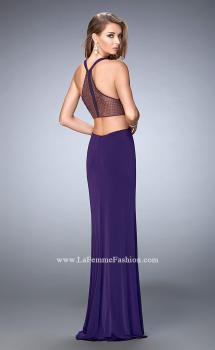 Picture of: Elegant Prom Dress with Sheer Back and Rhinestones in Purple, Style: 22288, Main Picture