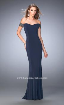 Picture of: Sweetheart Neckline Off the Shoulder Jersey Prom Dress, Style: 22295, Main Picture