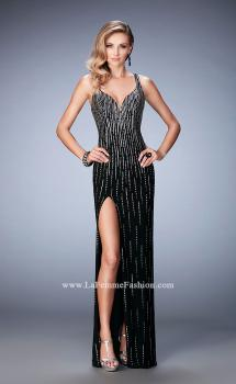 Picture of: Open Back Long Prom Dress with Side Leg Slit, Style: 22305, Main Picture