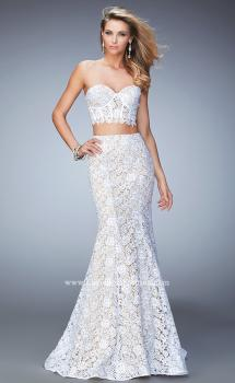 Picture of: Two Piece Lace Gown with Mermaid Skirt and Corset Top, Style: 22311, Main Picture