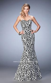 Picture of: Long Embroidered Mermaid Lace Prom Gown in Print, Style: 22313, Main Picture