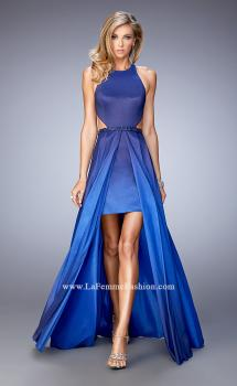 Picture of: Taffeta High-Low Prom Dress with Unique Ombre Effect, Style: 22328, Main Picture