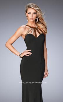 Picture of: Long Jersey Prom Dress with Embellished Straps, Style: 22329, Main Picture