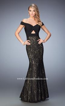 Picture of: Off the Shoulder lace Mermaid Gown with Cut Outs, Style: 22342, Main Picture