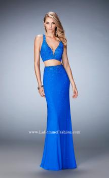 Picture of: Rhinestone Two Piece Dress with Diamond Open Back, Style: 22368, Main Picture
