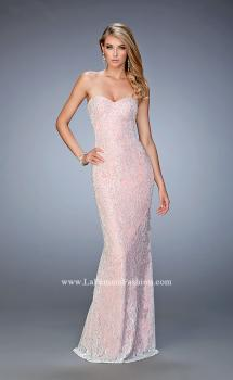 Picture of: Lace Prom Gown with Beaded Straps and Open Back, Style: 22371, Main Picture