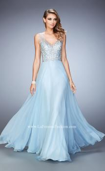 Picture of: Long Chiffon Prom Dress with Sheer Straps and Back, Style: 22499, Main Picture