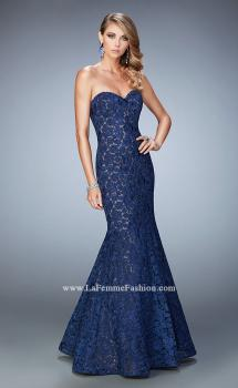 Picture of: Long Mermaid Prom Gown with Sweetheart Neckline in Blue, Style: 22511, Main Picture