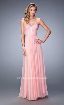 Picture of: Long Chiffon Prom Dress with Crystal Rhinestones in Pink, Style: 22524, Main Picture