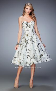 Picture of: Floral Organza Tea Length Prom Dress, Style: 22533, Main Picture
