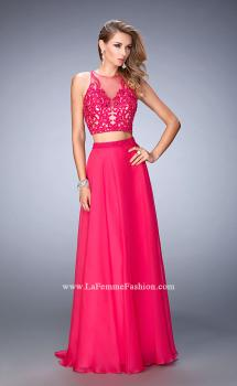 Picture of: Beaded and Embroidered Two Piece Prom Dress in Pink, Style: 22652, Main Picture
