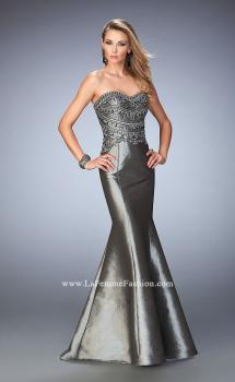 Picture of: Metallic Dress with Scoop Neck and Embellishments, Style: 22721, Main Picture