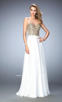 Picture of: Embellished Chiffon Prom Dress with Scoop Neck, Style: 22722, Main Picture