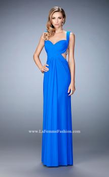 Picture of: Long Sweetheart Neckline Prom Dress with Crystals in Blue, Style: 22727, Main Picture