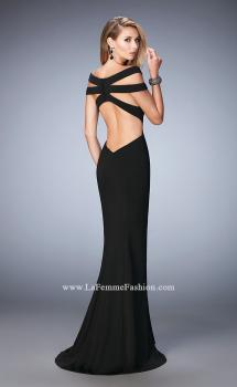 Picture of: Off the Shoulder Dress with Cut Outs and Open Back, Style: 22728, Main Picture
