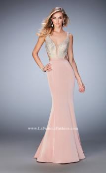 Picture of: Long Jersey Gown with Beading and Mermaid Skirt, Style: 22767, Main Picture