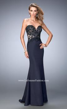 Picture of: Sweetheart Neckline Prom Dress with Train in Blue, Style: 22774, Main Picture