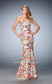 Picture of: Long Floral Printed Prom Dress with Sweetheart Neck, Style: 22820, Main Picture
