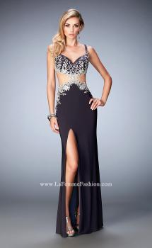 Picture of: Cut Out Long Prom Dress with Open Back and Slit, Style: 22828, Main Picture