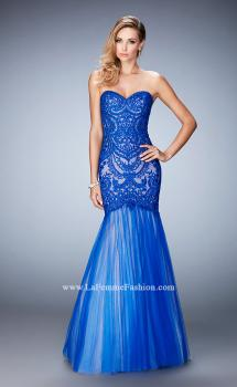 Picture of: Rhinestone Embroidered Prom Gown with Tulle Skirt, Style: 22836, Main Picture
