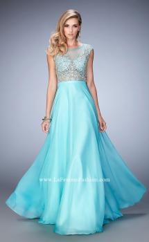 Picture of: Embellished Prom Dress with Sheer Bodice, Style: 22885, Main Picture