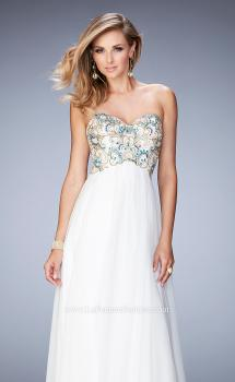 Picture of: Embellished Long Prom Dress with Sweetheart Neckline in White, Style: 22926, Main Picture