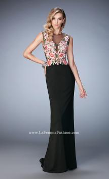 Picture of: Long Lace Prom Gown with Keyhole Back, Style: 22935, Main Picture