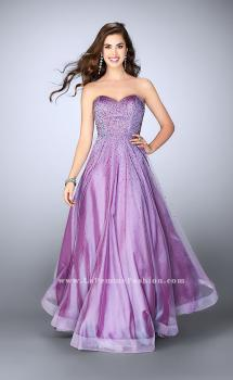 Picture of: Strapless A-line Dress with Rhinestones Tulle Skirt in Purple, Style: 22952, Main Picture