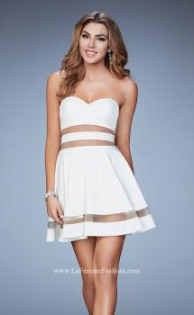Picture of: A-line Homecoming Dress with Mesh Cut Outs, Style: 23349, Main Picture
