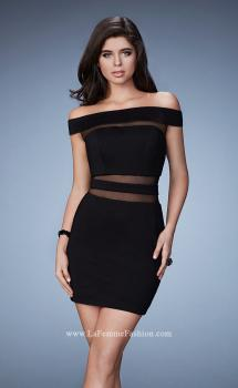 Picture of: Fitted Homecoming Dress with Sheer Cut Outs, Style: 23391, Main Picture