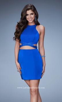 Picture of: Fitted Short Dress with Cut Outs and Crossing Straps, Style: 23542, Main Picture