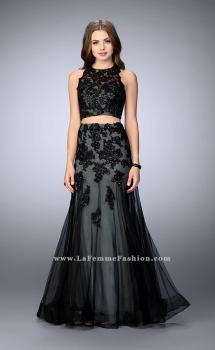 Picture of: Two Piece Dress with a Racer Back and Mermaid Skirt in Black, Style: 23543, Main Picture