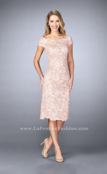 Picture of: Knee Length Gown with Scattered Beading in Pink, Style: 23552, Main Picture